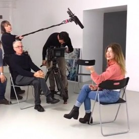 Uldus gave interview for Documentary Film at First Belgium Chanel